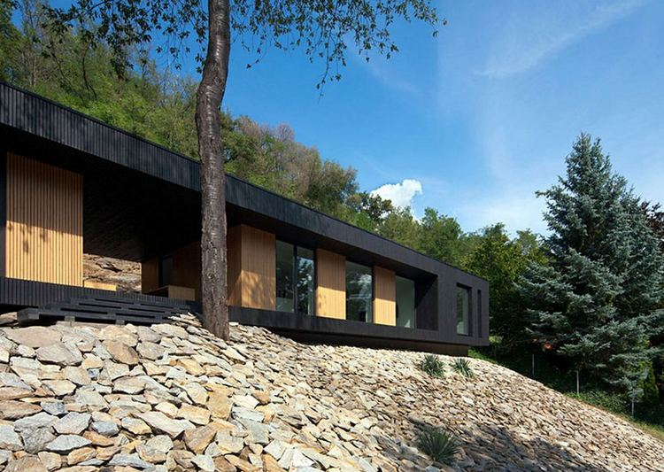 Hideg House on a stone quarry by Beres Architects, Kőszeg, Hungary