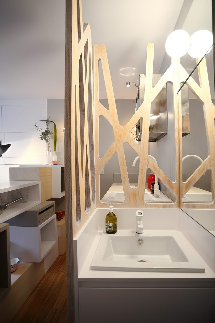 Tiny space 129 sq ft transformed into mini apartment for 12 by 12 room sq ft