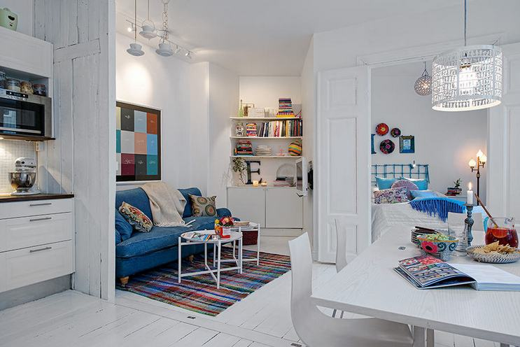 we wrote about small spaces and small apartment design ideas many