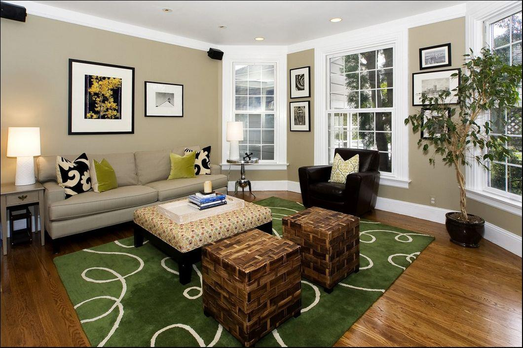 Living room classic color combination of white taupe What is the best color for living room walls