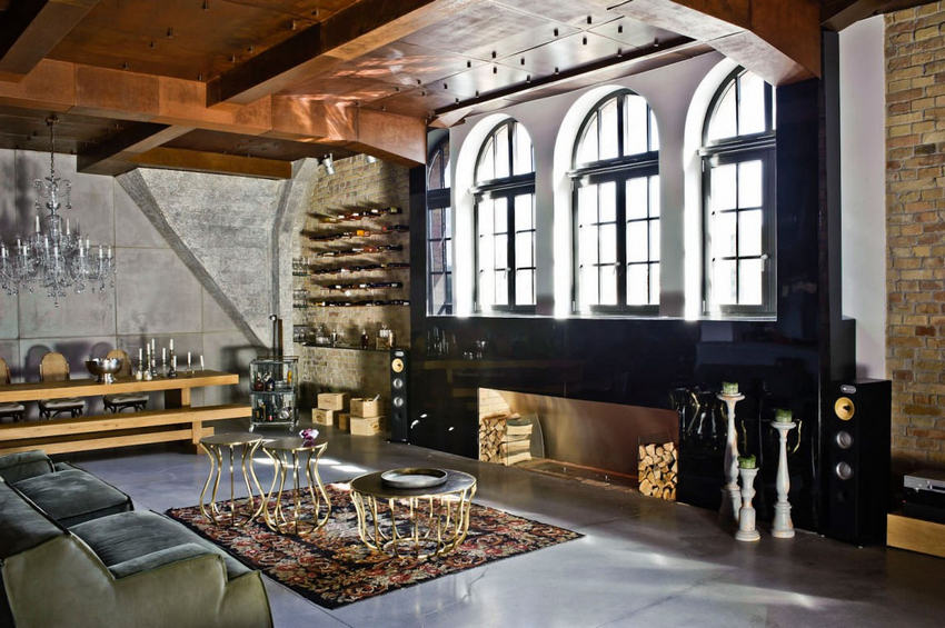 Loft eclectic apartment in budapest 1 modern home for Idee deco loft new yorkais