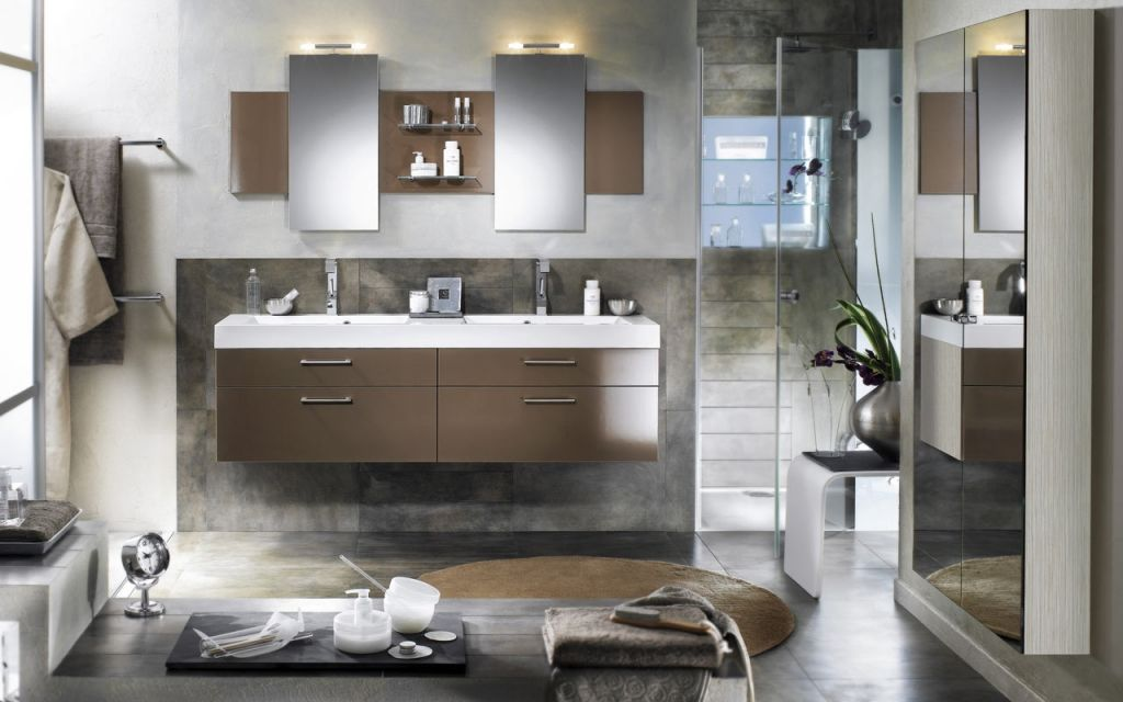 Stylish bathrooms ideas from delpha 10 modern home design ideas lakbe - Salle de bain 3m carre ...