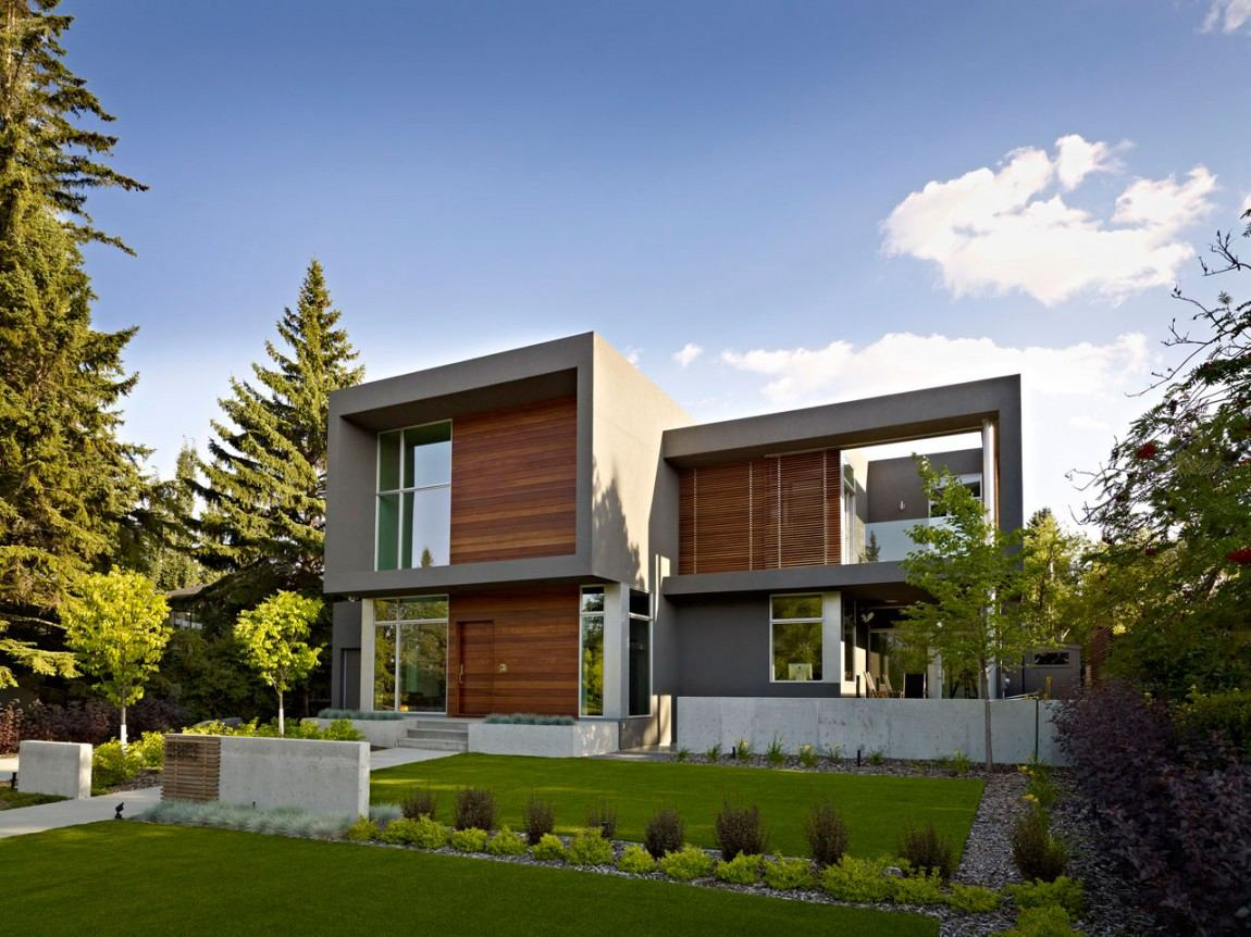 The summit by habitat studio workshop modern home for Modern home decor edmonton