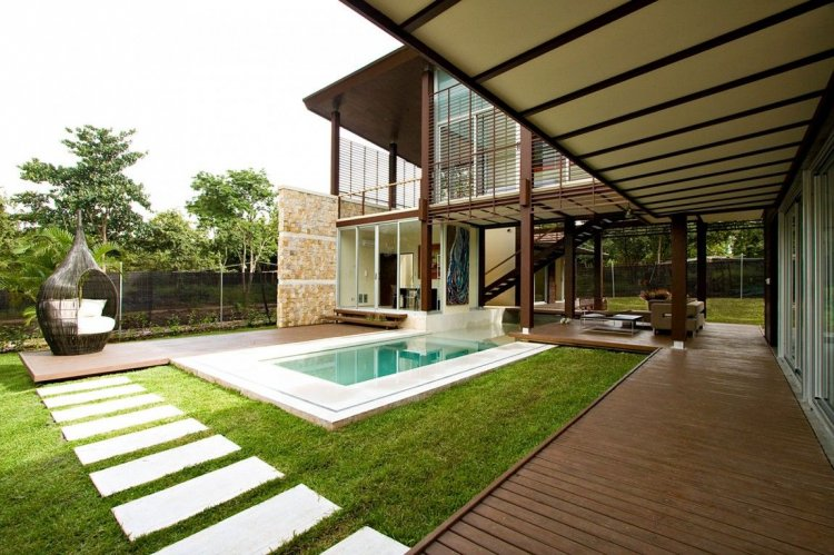 Spacious open and modern with large terraces orizon for Pool design costa rica