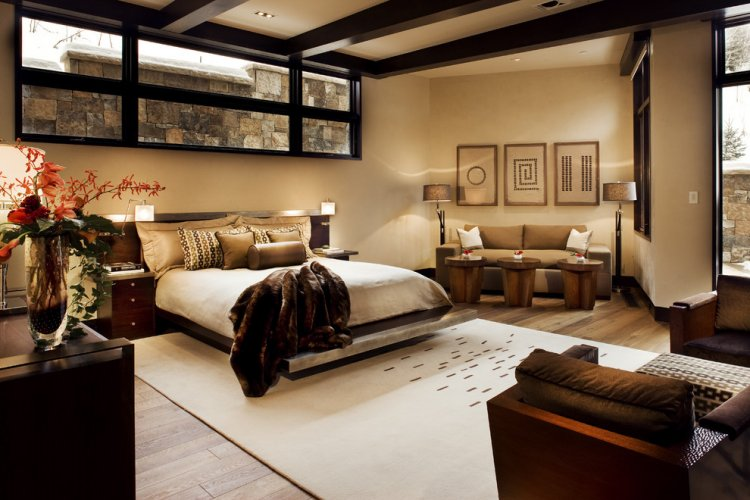 Master bedroom with natural atmosphere