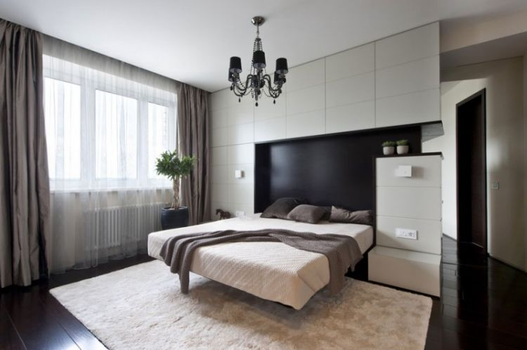 Pale neutrals with dark accents - apartment in Russia - 10