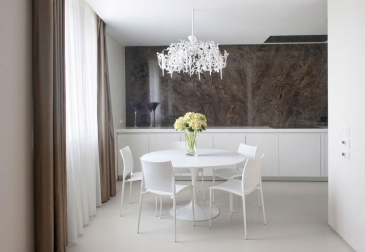 Pale neutrals with dark accents - apartment in Russia - 7