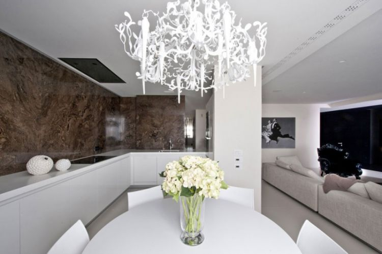 Pale neutrals with dark accents - apartment in Russia - 9