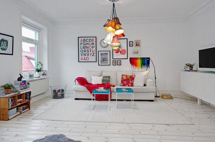 Beautiful scandinavian apartment with cheerful decor and inspiring colors - 2