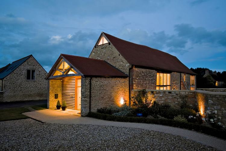 Contemporary conversion of an old stone barn by The Anderson Orr Partnership