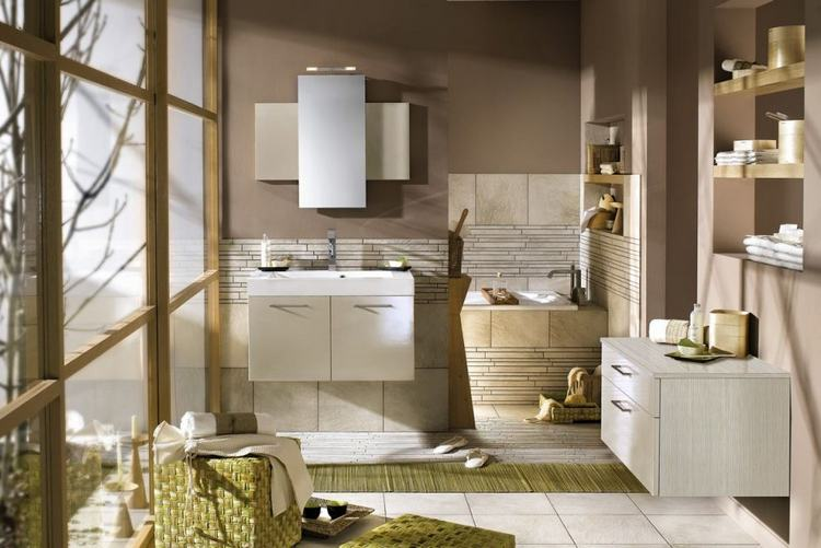 Stylish bathroom interiors from delpha color and design for Trendy bathroom ideas