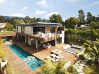 Modern two story residence with LEED Platinum certification